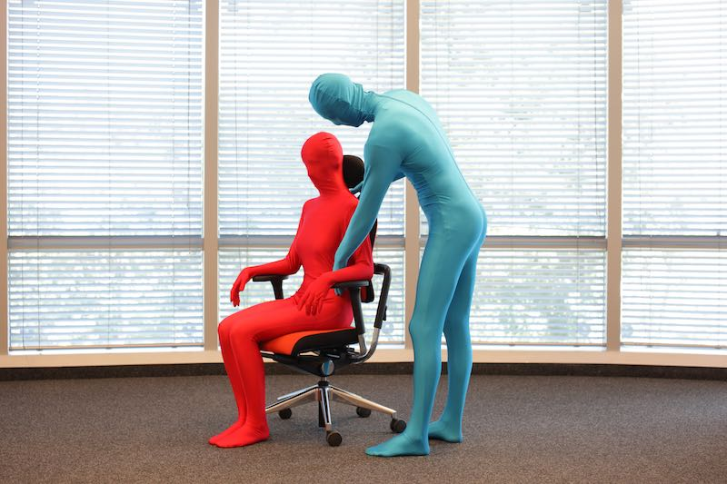 Posture Correction Prevention Techniques Exemplified by two mimes