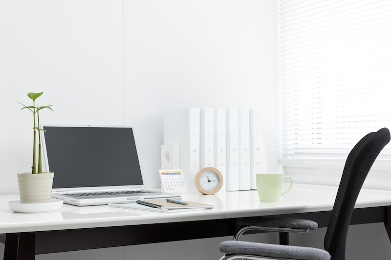 Clean, bright office desk